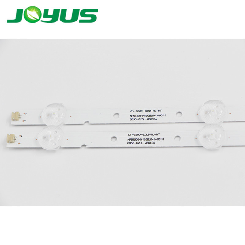 direct led tv backlight led strip CY-550D-6*12-HL+HT NPB15D544103BL041-001H 8D55-D2DL-M8612A