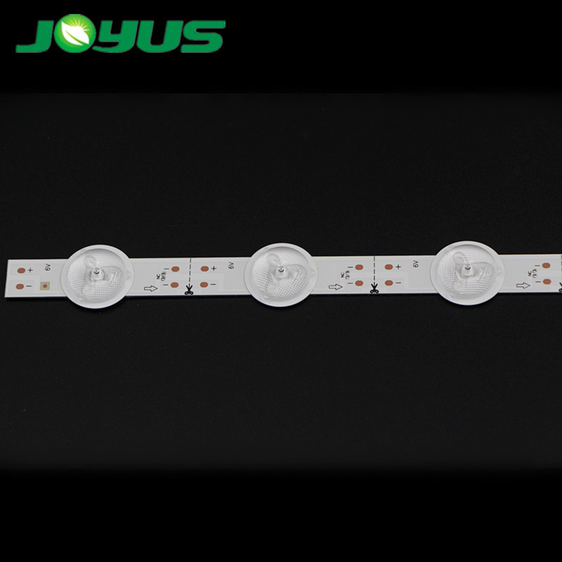 Universal tv led backlight strip 6V 10 leds 500mm every led cuttable per group