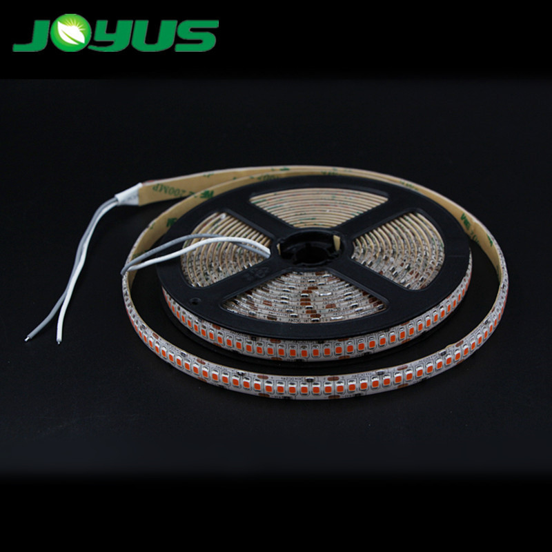 LED grow strip light full spectrum smd2835 240 leds/m 5m/roll IP20 15W/M for vegetable plant growth