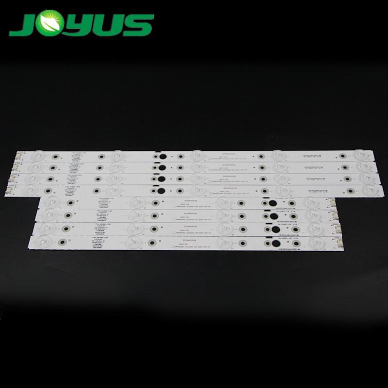 skyworth tv backlight led strip back light for 43 inch 4+5 leds per row 8 pcs/set SW43D09R-ZC22AG-02 SW43D09L-ZC22AG-02 43E388G