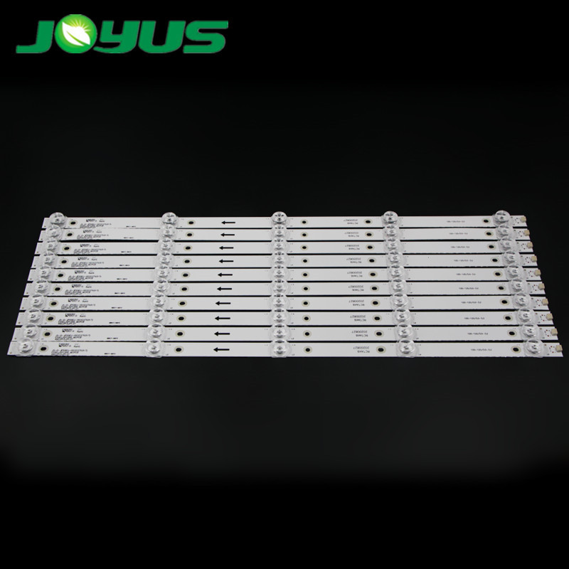 10 pcs/set 3v 6v led tv backlight JS-D-JP55EU-051EC(70317) 55QHQJP JS-D-JP55EU-01EC E55EU/EP1000_MCPCB 490mm 5 leds square lens