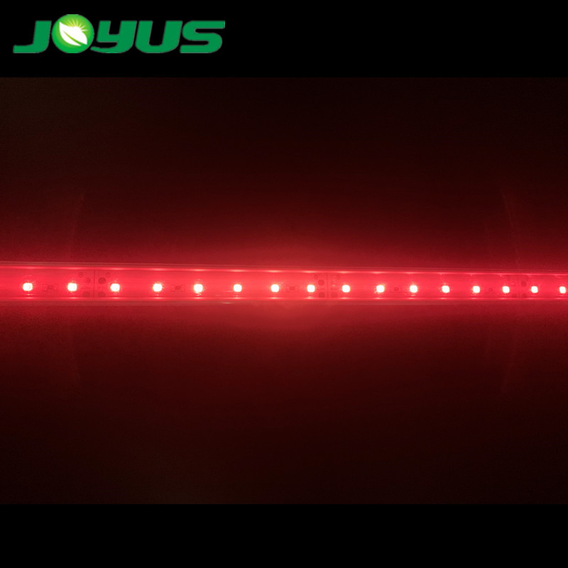 led growing strips light in tube for greenhouse 730nm 740nm smd2835 24v 60 leds/m with aluminum profile PC cover