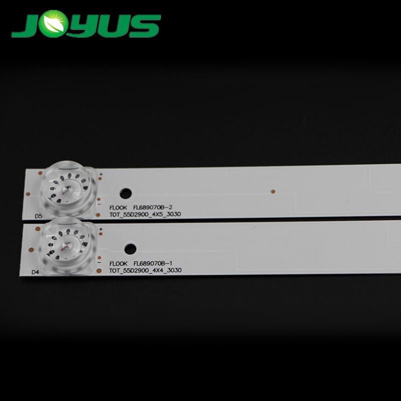 haier 55 inch led panel strip tv backlight 6v smd 3030 4 leds/pc TOT-55D2900 B-1 TOT-55D2900_4*5_3030  D55A810 L55E5800A-UD