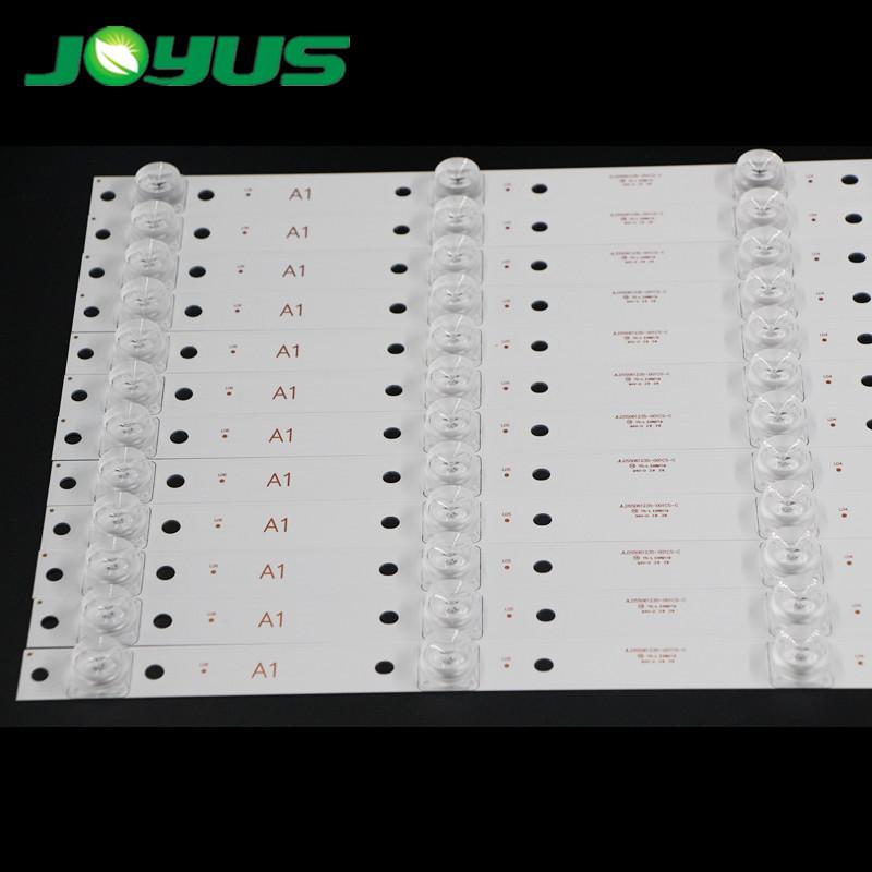 3 volt 6 led strip 18volt backlight for 55 inch Universal TV JL.D55061235-001GS-M SDL550WY square lens 545mm