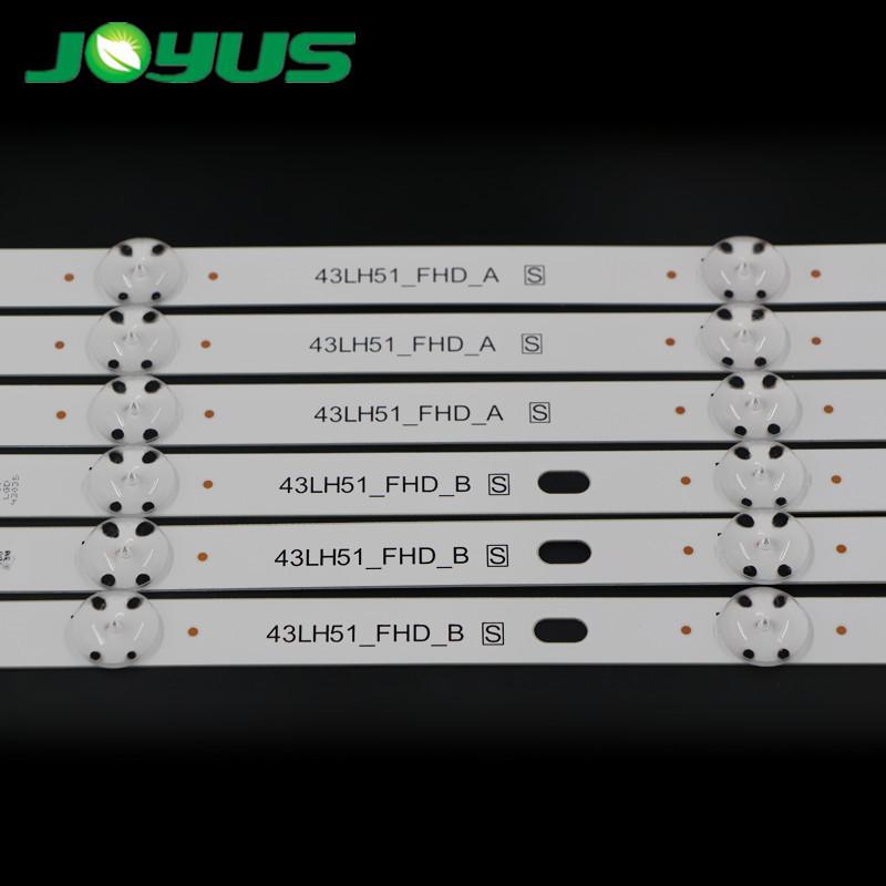 2 pcs per set new led strip tv lights of LG 43LH51_FHD SSC_43inch_FHD_A/B_REV02_150925 43UF6400-CA 43UF6100-CB 43LG61CH-CK